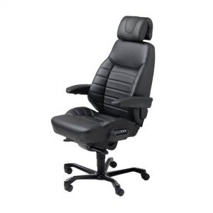 Office Chairs Australia | KAB ACS Air Comfort System Executive in Black Leather