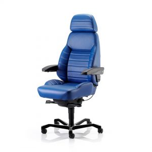 KAB-Executive-24-Hour-Chair-side-front-blue