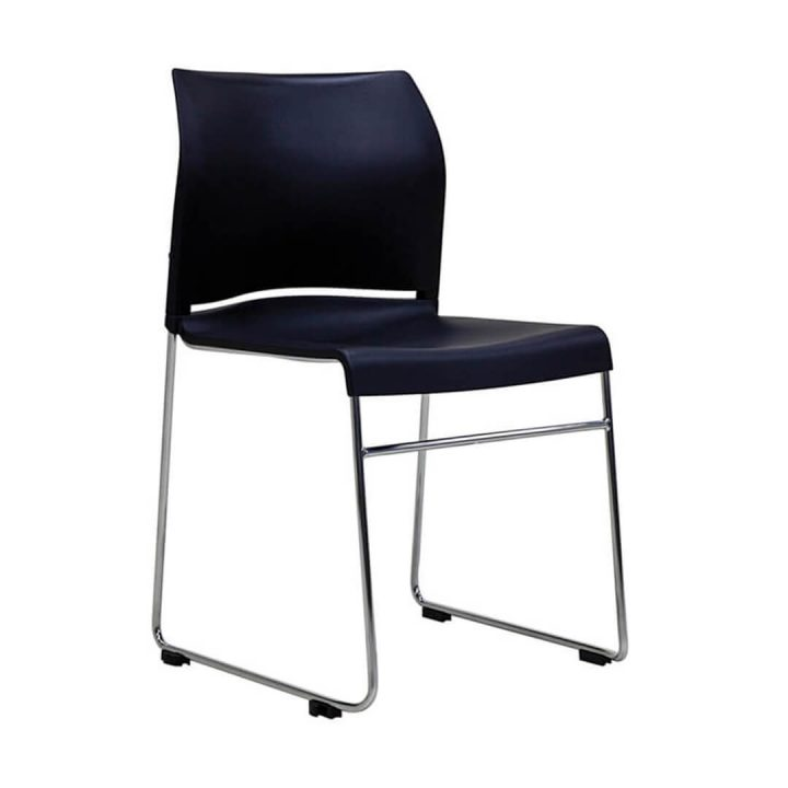 Office Chairs Australia | Buro Envy Stackable Chair Black