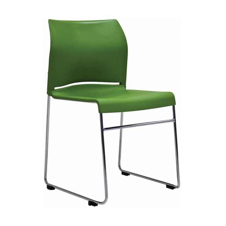 Office Chairs Australia | Buro Envy Stackable Chair Green
