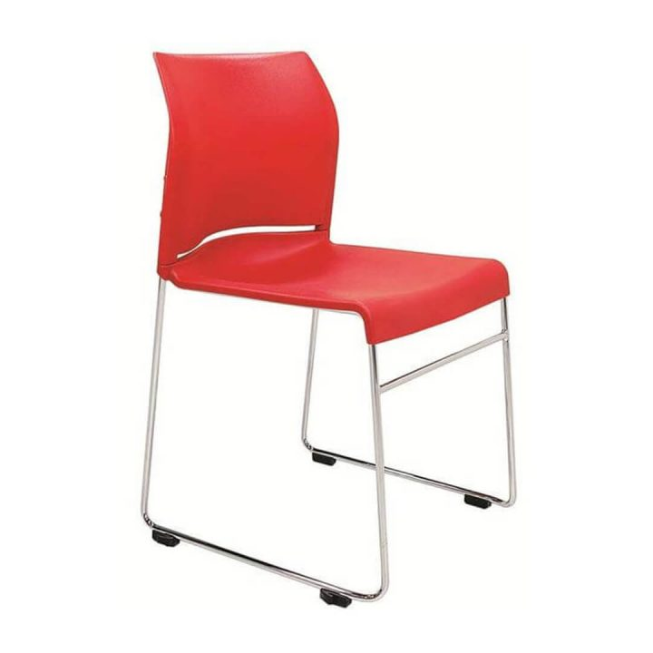 Office Chairs Australia | Buro Envy Stackable Chair Red
