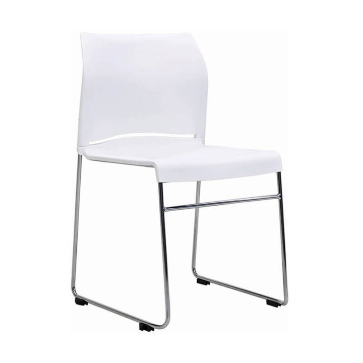 Office Chairs Australia | Buro Envy Stackable Chair White