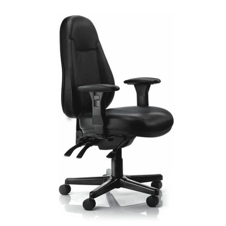 Office Chairs Australia | Buro Persona in Black Leather