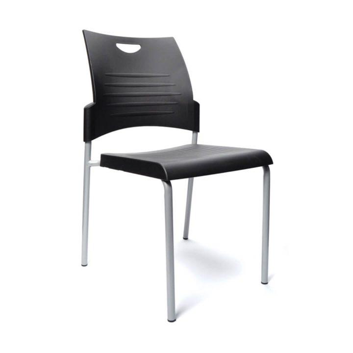 Office Chairs Australia | Buro 4 Leg Stackable Chair Black