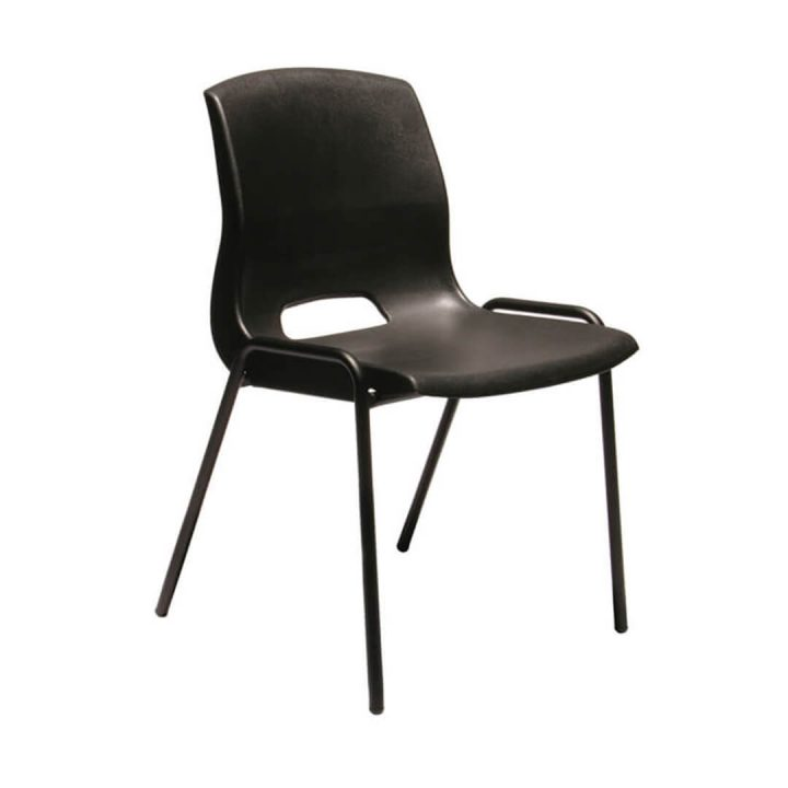Office Chairs Australia | Buro Quad Stackable Chair Black