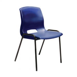 Office Chairs Australia | Buro Quad Stackable Chair Blue