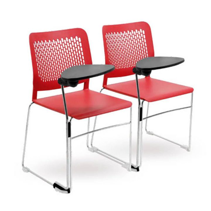 Office Chairs Australia | Morika Lecture Chair Red Pair