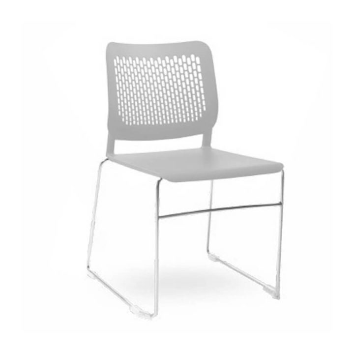 Office Chairs Australia | Morika Sled Base Stackable Chair Gray